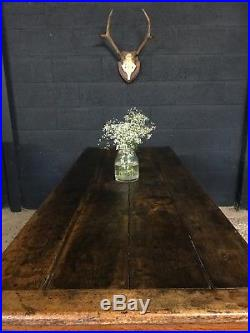 Superb Antique French Oak Country Farmhouse Refectory Kitchen Dining Table