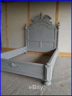 Superb Antique French Painted Bed