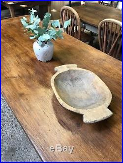 Superb Vintage Antique French Oak Country Farmhouse Kitchen Dining Table