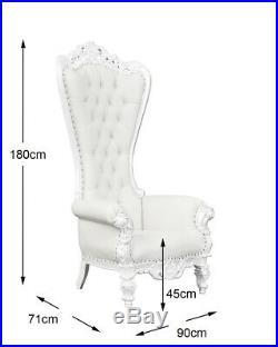 Throne Chair In French White Wedding Chair White Frame Lazarus