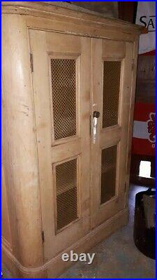 Unusual Antique French style old larder or linen cupboard