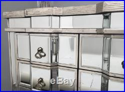Venetian Mirrored Sideboard Antique French Cabinet Glass Chest Drawers Furniture