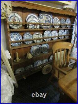 Very Large Antique French Pine Plate Rack 19th Century Shabby Chic Not Prefect