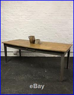 Vintage Antique French Country Farmhouse Kitchen Dining Table