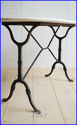 Vintage Antique French Marble Top Garden Table