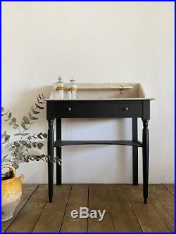 Vintage Antique French Marble Top Painted Washstand