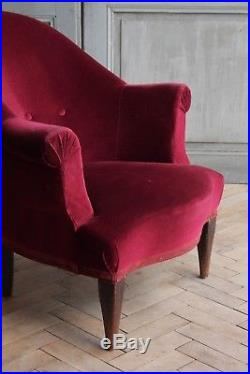 Vintage Antique French Opera Tub Arm Chair (#2)