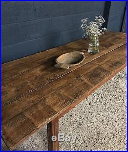 Vintage Antique Large French Country Farmhouse Kitchen Dining Table