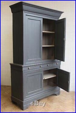 Vintage Antique Large French Oak Linen Press Cupboard Armoire Cabinet