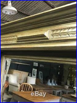 Vintage Antique Large French Painted Bevelled Mirror