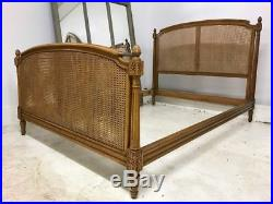 Vintage Cane French Double Bed a57