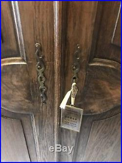 Vintage French Armoire/4 Door French Wardrobe / Louis IV Dark Oak REDUCED