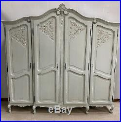 Vintage French Armoire/4 Door French Wardrobe / Painted Shabby chic style VB444