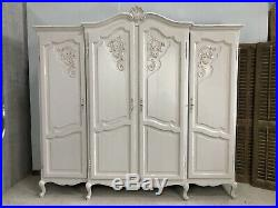 Vintage French Armoire/4 Door French Wardrobe / Painted Shabby chic style VB476