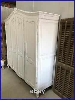 Vintage French Armoire/4 Door French Wardrobe / Painted Shabby chic style VB605