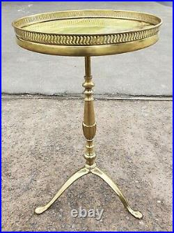 Vintage French Brass Wine Table / Lamp Table Free Uk Postage