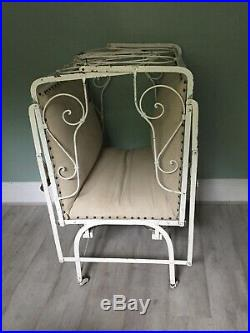Vintage French Day Bed With New Fitted Linen Mattress