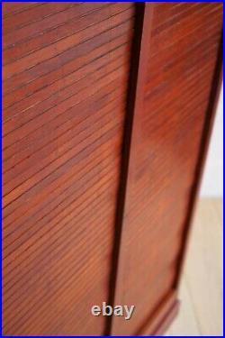 Vintage French Large Oak Double Tambour 180cm