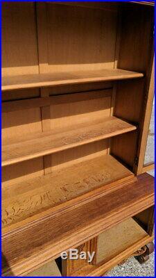Vintage French Louis XIV Oak Bookcase/ Cabinet / Cupboard /Sideboard