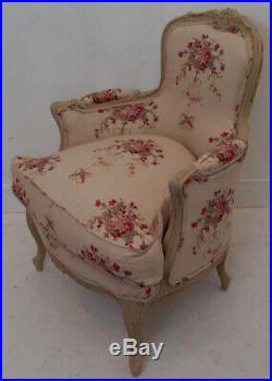 Vintage French Louis XV Bergere Armchair in KATE FORMAN'Isobella