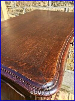 Vintage French Louis XV Style Carved Secretaire Writing Desk Bureau Chateaux
