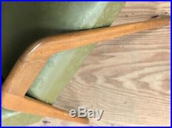 Vintage French Mid Century Oak Armchair