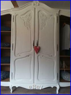 Vintage French Oak Armoire Wardrobe Breaks Down. KEYS