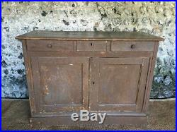 Vintage French Sideboard & Drawers In Original Chippy Paint Patina Mouses Back