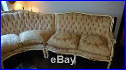 Vintage French Style Louis Corner Sofa Baroque Wood Chair Shabby Chic Restore