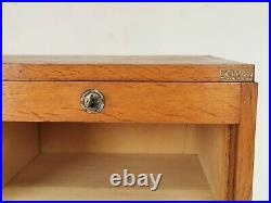 Vintage French Tambour Haberdashery Office Filing Cabinet, 1940