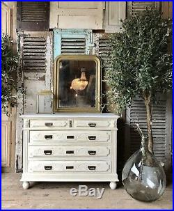 Vintage French chest of drawers With Marble Top