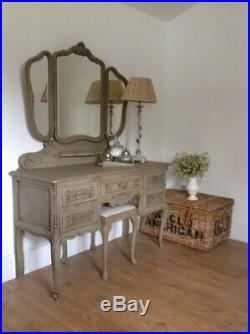 Vintage French dressing table and stool