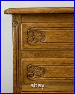 Vintage French oak Louis XIV Chest of Drawers / Sideboard / Cabinet