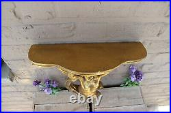 Vintage French putti angel wall console