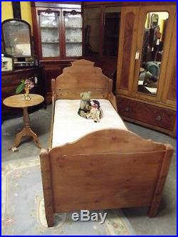 Vintage French style childs Sleigh Bed