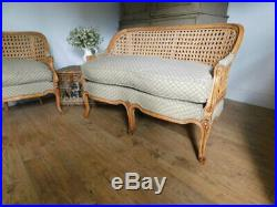 Vintage French style sofa and chair set