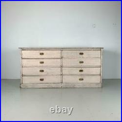 Vintage Industrial French Haberdashery Cabinet Chest Of Drawers #3193