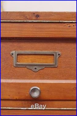 Vintage Industrial Rustic French Postal Cabinet Haberdashery Locker