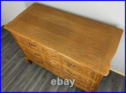 Vintage Oak French Louis XIV Chest of Drawers / Sideboard / Cabinet