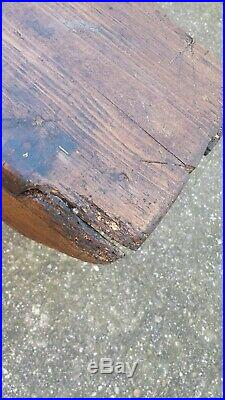 Vintage Old French Wooden Bench