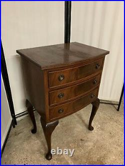 Vintage Small French Style mahogany Chest Of Three Drawers
