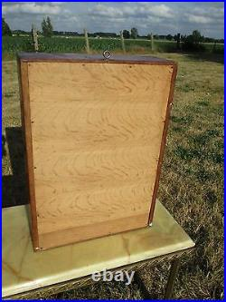 Vintage Wood medicine Apothecary Cabinet Special Shaped Glass mirror