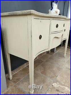 Vintage antique french style shabby chic cupboard / sideboard