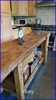 Vintage carpenters french workbench, rustic, butchers block kitchen island