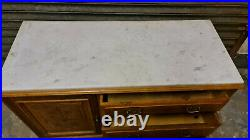 Vintage french marble top chest of drawers