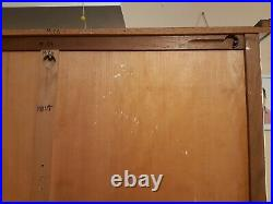 Vintage mid century authentic french display armoire linen cabinet