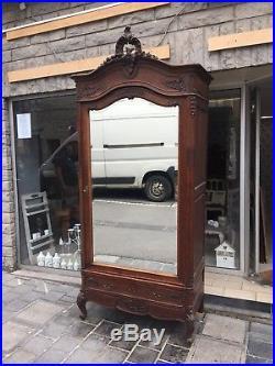 Wardrobe 1 door Oak Louis XV, French style