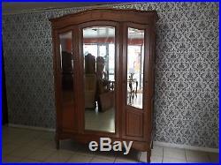 Wardrobe 3 door Oak Louis XV, French style