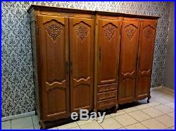Wardrobe 5 door Oak Louis XV, French style, Delivery possible, see description