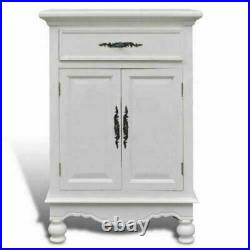 White Antique Cabinet Storage Cupboard Painted Vintage Unit Wooden Sideboard New